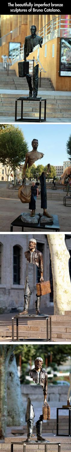 Beautifully imperfect sculptures by Bruno Catalano