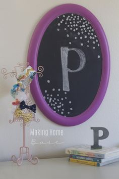 $2 Trash to Treasure: Girl's Room Chalkboard in Radiant Orchid