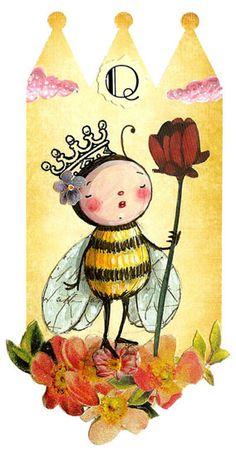 Bees:  Q is for #Queen #Bee.