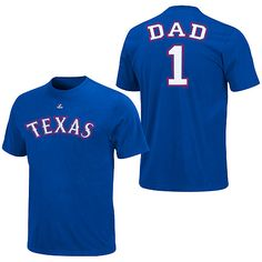 Texas Rangers Team Dad T-Shirt by Majestic Athletic