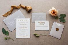 Foiled Invitations // Coronet Foiled Wedding Invitation // Foil, gold, romantic, understated, natural, elegant, delicate invitation