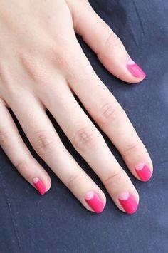 Pink half-moon fuchsia #nails #mani