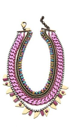 . . Multi Strand Collar Necklace . .