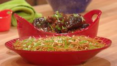Sticky Cider-Soy Chicken Legs and Spicy Peanut Noodle Salad #whatsfordinner