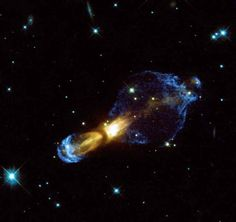 Rotten Egg Nebula    Violent gas collisions that produced supersonic shock fronts in a dying star are seen in a new, detailed image from NASA's Hubble Space Telescope.