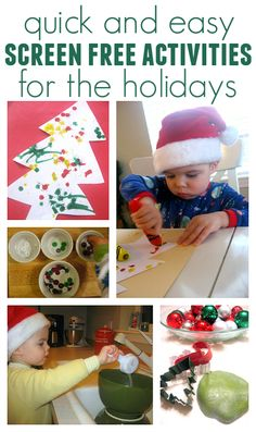 Fun and easy screen free activities for kids this Christmas. Awesome for toddlers.