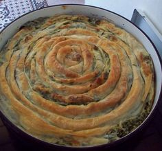 Zeljanica pie with spinach