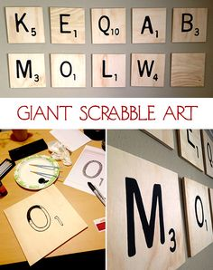 Bruery fan Lauren Obregón contributed her how-to on giant scrabble wall art for our Summer Camp Crafts Blog Off. We might just take these off the wall and play a huge game. #crafts #summercamp #craftbeer #beercrafts #diy #scrabble #wordswithfriends #wallart #blog #thebruery #decor