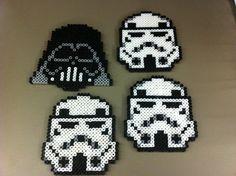 Star Wars Perler Bead Coaster Set on Etsy, $20.00