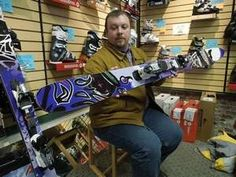 Jason Duquette-Hoffman (above), co-counder of Worth Skis in Middlebury, describes how early rise at the tip and tail of the 'Magic' model he...