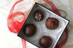 Raw Hazelnut Chocolate Truffles