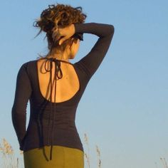 Etsy backless shirt.