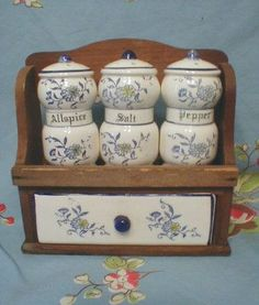 Vintage with spice rack and a drawer.