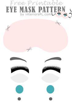 sleep mask pattern, eye mask pattern, eye masks