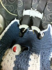 Namaste Crochet: 1/2 car seat snuggie