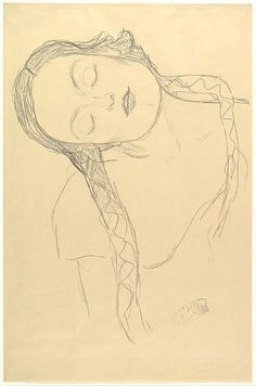 Gustav Klimt- Half-Figure of a Young Woman