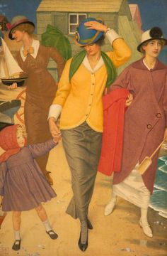 Along the Shore (1914)  by Joseph Edward Southall (1861-1944)