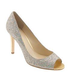 #Glitter peep toes