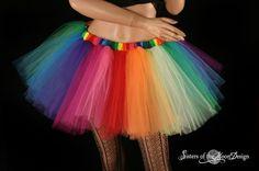 Adult tutu skirt Over the Rainbow extra poofy von SistersOfTheMoon