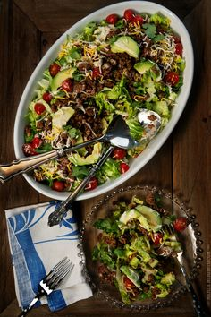 Mexican Salad with Avocado & Buttermilk Ranch Dressing | Your entire family will love this healthy recipe! FamilyFreshCooking.com