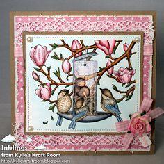 Mouse: E70, 71, 77, 93, 04  Birds: B 91, 93, 95, W 0, 1, 3, E000, 41, 43, 44  Flowers: R81, 83, 85, RV 000  Leaves: YG 63, 67, 91  Branches: E30, 31, 53, 55, 57  Bird feeder: C 1, 3, 5, 7, 9, B60 (glass)  Seed: E13, 34, 53, 30