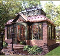 tiny house guest cottage, studio spaces, art studios, dream, brick, tiny houses, guest houses, greenhous, garden