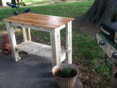 Custom Outdoor Grill Island Table by ElegantlyDistressed on Etsy, $165.00