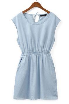Easy Denim Dress by: Oasap