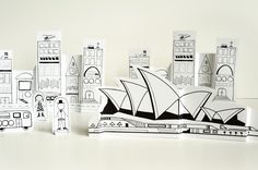 Sydney paper city by Made By Joel. I love his quirky printables.