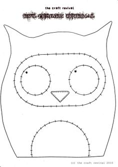 Owl Pincushion Template - so cute!