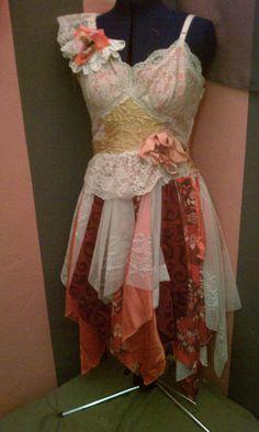 Beautiful upcycled slip dress.