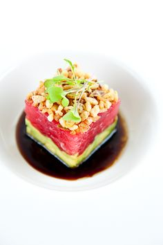 Ahi Tuna Tartare w/Avocado, Crispy Shallots & Soy-Sesame Dressing