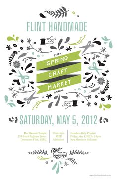 lovely craft fair poster design! This event happened in Flint, MI this past weekend.