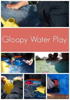 A little boy and his Gloopy Water Fun Play