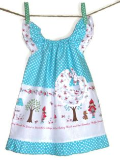 Girls Peasant Dress 'Little Red Riding Hood' by SouthernSeamsKids, $32.00