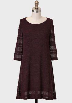 Clifton Hill Sweater Dress In Aubergine