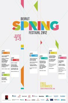 Beirut Spring Festival 2012 Program #Poster #GraphicDesign