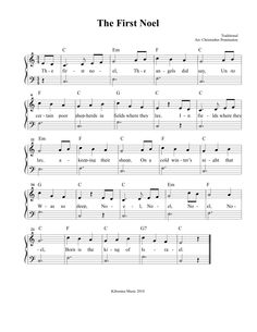CHRISTMAS SHEET MUSIC: The First Noel Sheet Music and Song for Christmas!