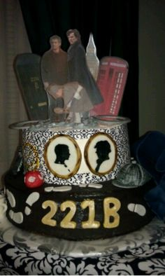 BBC #Sherlock cake!!!!!!   I wish someone made me a Sherlock cake! Guess I'll probably have to make my own.