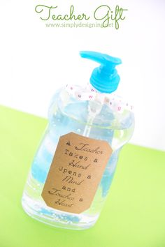 Hand Sanitizer Teacher Gift - Simply Designing with Ashley