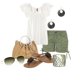 army green, created by bonnaroosky.polyvore.com