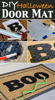 Get a door mat and black paint from dollar tree easy inexpensive decor