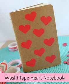 Washi Tape Heart Notebook Tutorial - EverythingEtsy.com