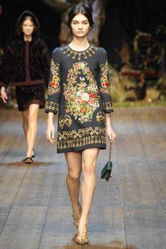 Dolce & Gabbana Winter 2015 Collection #MFW #AW14  #FashionWeek fashion weeks, fashion styles, milan fashion, autumnwint 201415, gabbana autumnwint, dolc, fall 2014, gabbana fall, photo galleries