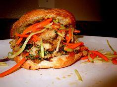 Healthy Vietnamese Ahi Tuna Burger from Self Magazine