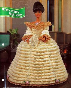 17th Century Ball Gown Crochet Pattern Annies by grammysyarngarden, $2.00
