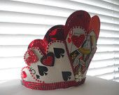 Popping Card Flower Headbands for Alice in Wonderland Themed Dance Recitals, Costumes or Fun. $25.00, via Etsy.