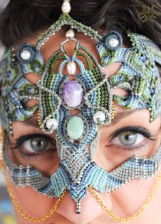 Mask Selene, Goddess of the Moon, is a handmade piece with love. is a unique piece