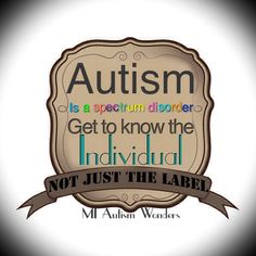 Autism  is a spectrum disorder. Each and every individual on the spectrum is different, even from the same home.