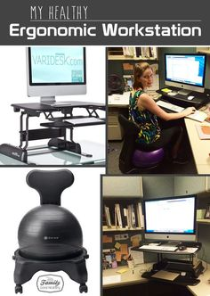 My Healthy Ergonomic Workstation: Standing Desk and Ball Chair - Family Gone Healthy   Family Gone Healthy